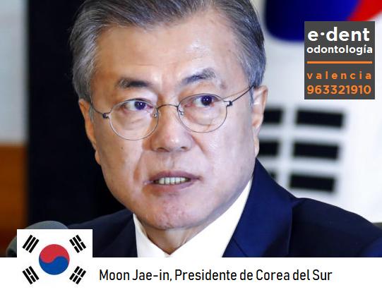Presidente surcoreano pierde doce dientes